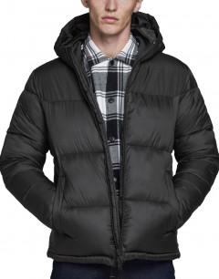 JACK&JONES Hooded Puffer Jacket Black