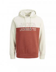 JACK&JONES Sweat Block Hoodie Silver