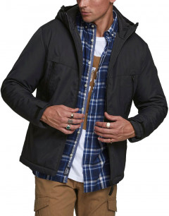 JACK&JONES Hooded Winter Jacket Black