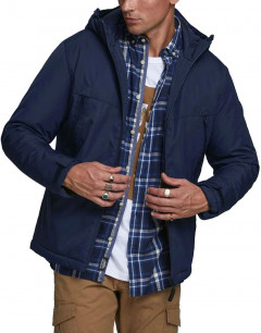JACK&JONES Hooded Winter Jacket Navy Blazer