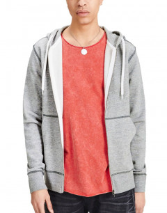 JACK&JONES Jorstorm Zip Hoody Light Grey