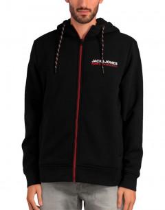 JACK&JONES Liz Zip Hooded Sweatshirt Black