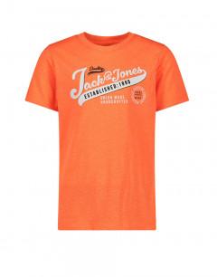 JACK&JONES Neon Logo Tee Orange