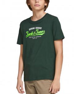JACK&JONES Neon Logo Tee Spruce