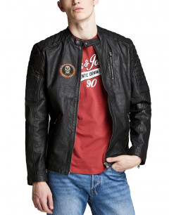 JACK&JONES Richard Custom Leather Black