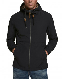 JACK&JONES Hooded Transitonal Jacket Black