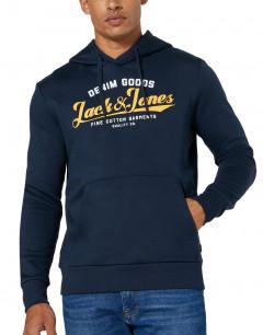 JACK&JONES Superior Regular Fit Hoodie Navy