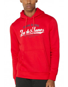 JACK&JONES Superior Regular Fit Hoodie Red