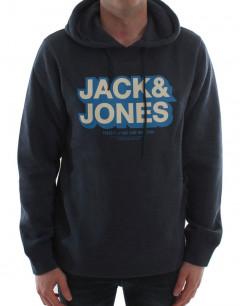 JACK&JONES Sweat Block Hoodie Navy