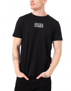 JACK&JONES Thundermix Back Tee Black Reflect