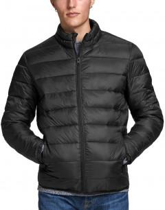 JACK&JONES Zip Through Puffer Jacket Black