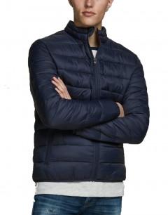 JACK&JONES Zip Through Puffer Jacket Navy Blazer