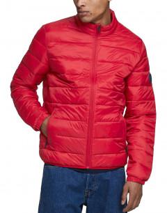JACK&JONES Zip Through Puffer Jacket Tango Red