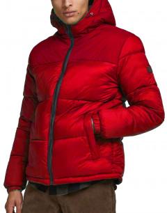 JACK&JONES Hooded Puffer Jacket Tango Red