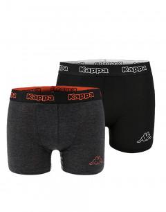 KAPPA 2pack Boxershorts Black/Antra