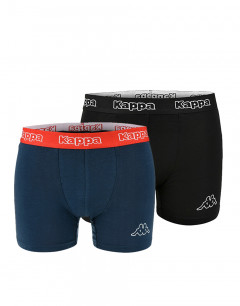KAPPA 2pack Boxershorts Black/Navy