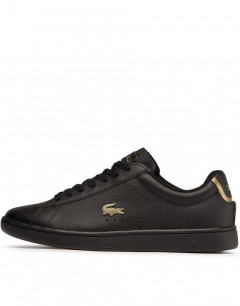 LACOSTE Carnaby Evo Nappa Leather Sneakers Black