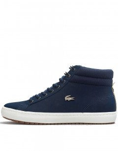 LACOSTE Straightset Leather Boots Navy