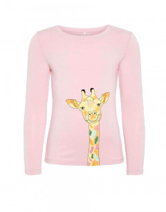 NAME IT Giraffe Long Sleeved Blouse Pink