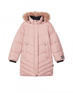 NAME IT Mabecca Long Winter Puffer Jacket Coral Blush