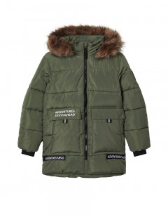 NAME IT Mannibal Long Puffer Jacket Thyme