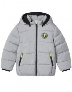 NAME IT Mezzo Reflective DinosaurDetail Puffer Jacket Grey