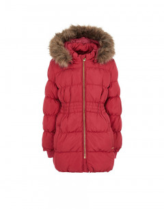 NAME IT Molly Long Down Jacket Cerise
