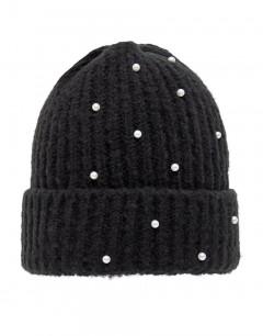 NAME IT Pearl Embellished Knit Beanie Black