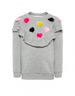 NAME IT Pom Pom Sweatshirt Grey