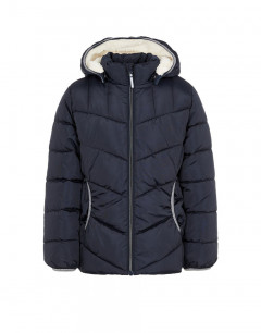 NAME IT Teddy Lined Puffer Jacket Dark Sapphire