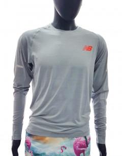 NEW BALANCE Elite Seasoless Ls Athlet Blouse Grey
