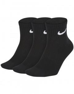 NIKE 3-Pack Everyday Ankle Training Socks Black