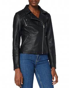 ONLY Leather Look Jacket Black