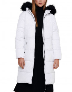 ONLY Long Puffer Jacket White