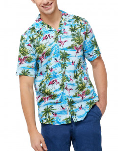 ONLY&SONS Hawaiian Print Relaxed Fit Shirt Blue