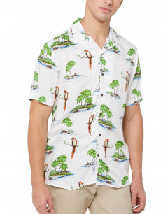 ONLY&SONS Hawaiian Print Relaxed Fit Shirt White