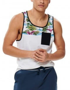 ONLY&SONS Lee Pocket Tank Flamingo