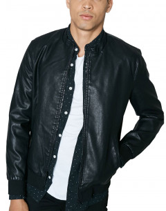 ONLY&SONS Pu Bomber Jacket Black