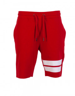 ONLY&SONS Stripe Sweat Shorts Red