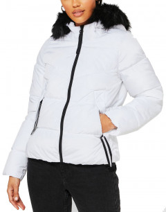 ONLY Short Puffer Jacket White