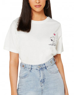 ONLY Snoopy Printed Tee White Heart
