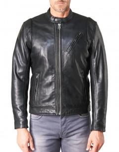 PEPE JEANS Culpeper Leather Jacket Black