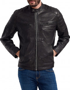 PEPE JEANS Keith Leather Jacket Black