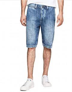 PEPE JEANS Trade Pinstripe Shorts Denim