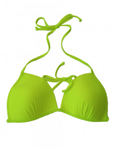 PIECES Tanga Swim Top Lime