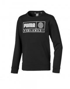 PUMA Alpha Graphic Crew Fl Black