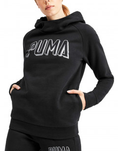 PUMA Athletics Fleece Hoodie Black