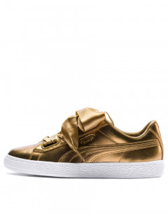 PUMA Basket Heart Luxe Gold
