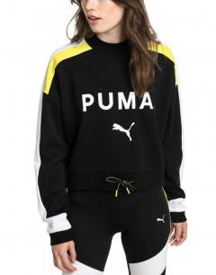 PUMA Chase Crew Cotton Sweater Black