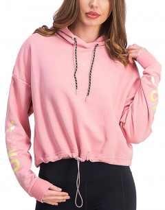 PUMA Chase Cropped Hoodie Pink